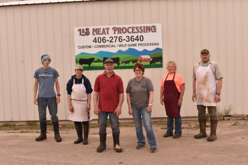 l and s meat processing team